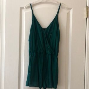 Emerald green romper